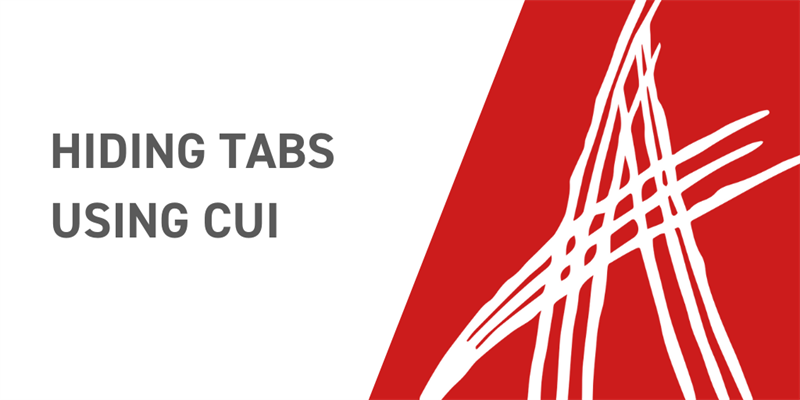 Hiding Tabs Using CUI
