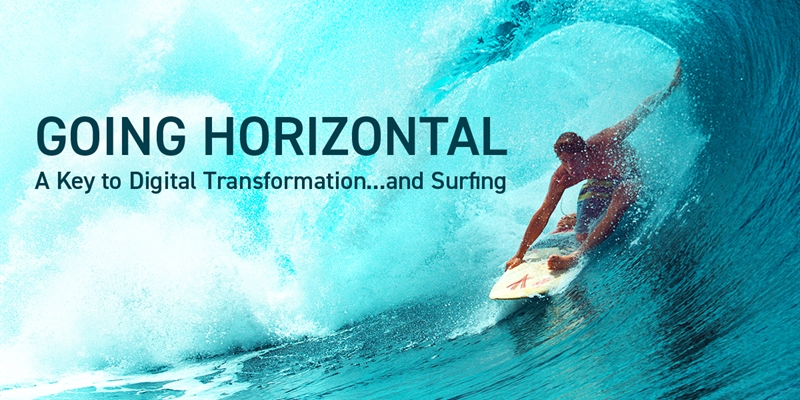 Going Horizontal: A Key to Digital Transformation . . . and Surfing