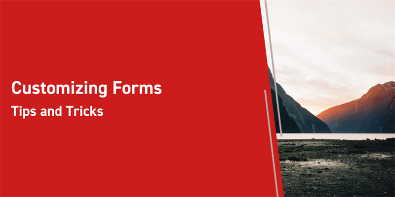 Customizing Forms: Tips and Tricks