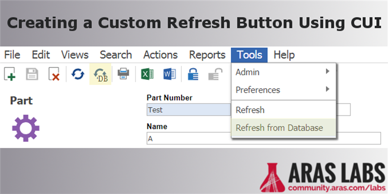 Creating a Custom Refresh Button Using CUI