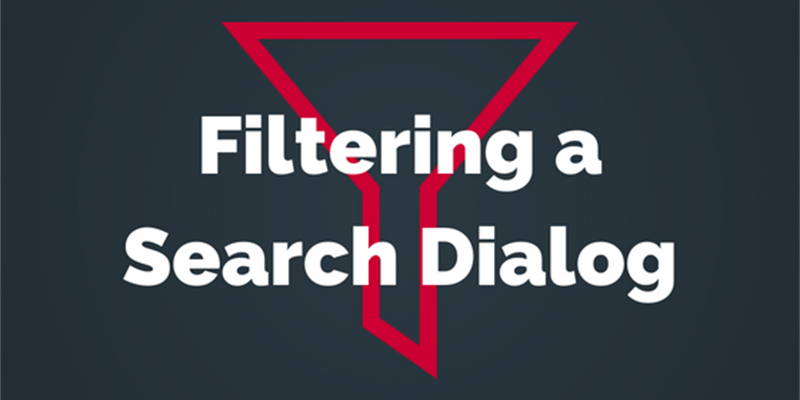 Applying a Filter to a Search Dialog
