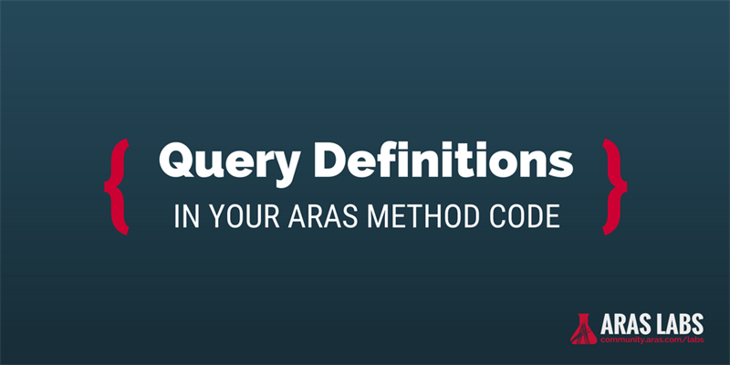 Using Query Definitions in Your Method Code
