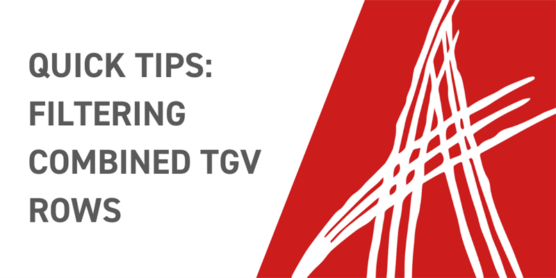 Quick Tips: Filtering Combined TGV Elements