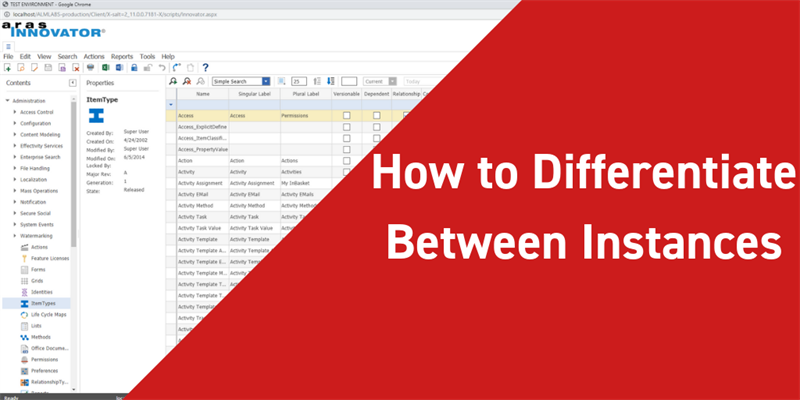 How to Visually Differentiate Aras Instances